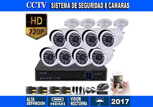 Cyber - Insumos Kit seguridad Dvr 4 Hd 720p 1mp 4 cámaras Ir Hd disco 1tb