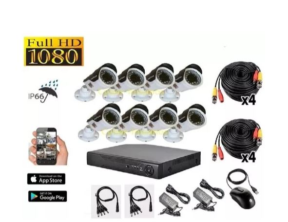 Captura kit seguridad xvr 1080p + 8 cámaras full hd 1080p