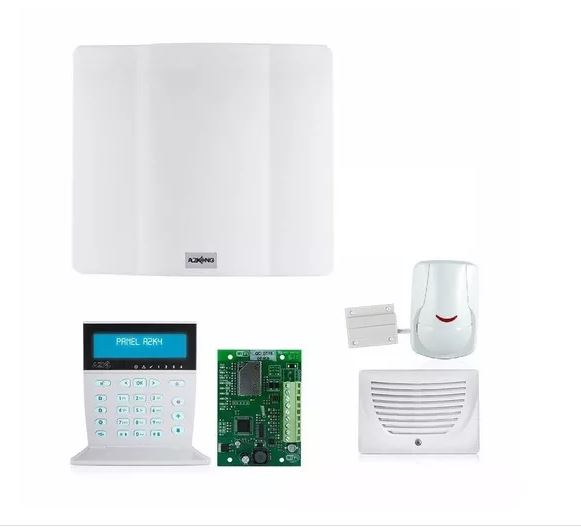 Captura kit alarma control wifi por celular con sensor antimascota